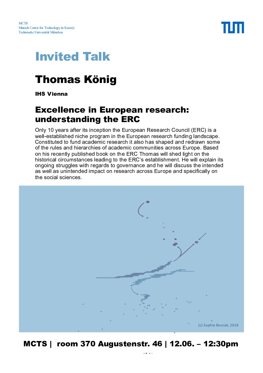 "Organisation des Vortrags: T. König: ""Excellence in European Research: Understanding the ERC"" am 12.06.2018"
