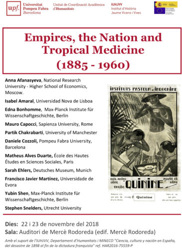"Vortrag am 21.11.2018: S. Ehlers: ""German Tropical Medicine and its European Entanglements After the Great War"""