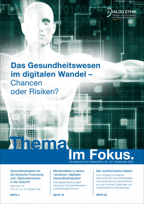 """Publication: M. Gadebusch Bondio, """"Digitalisierung der Medizin"""""""