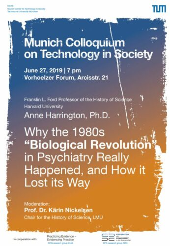 """Talk by Anne Harrington: Why the 1980s """"Biological Revolution"""" in Psychiatry Really Happened, and How it Lost its Way, Jun 27, 2019"""